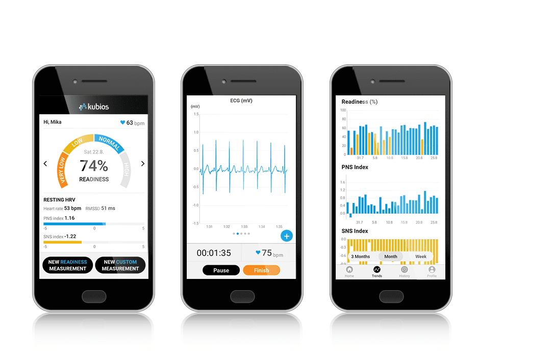 Kubios HRV mobile app